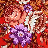 Финифть 341-6, павлопосадский платок (шаль) из уплотненной шерсти с шелковой вязанной бахромой, фото 3