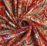 Финифть 341-6, павлопосадский платок (шаль) из уплотненной шерсти с шелковой вязанной бахромой, фото 7