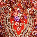 Финифть 341-6, павлопосадский платок (шаль) из уплотненной шерсти с шелковой вязанной бахромой, фото 8