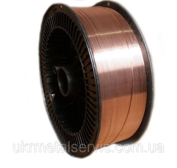 Проволока Св-08Г2С омедненная 1,0 мм  (кассета 15 кг)
