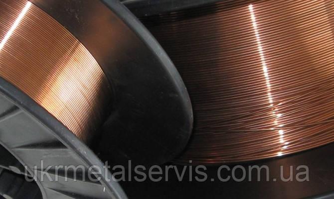Проволока Св-08Г2С 1,2 мм омедненная (катушка 15 кг), фото 2