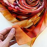10290-4, павлопосадский хустку вовняної (розріджена шерсть) з швом зигзаг, фото 3