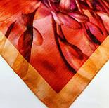 10290-4, павлопосадский хустку вовняної (розріджена шерсть) з швом зигзаг, фото 8
