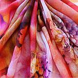10290-4, павлопосадский хустку вовняної (розріджена шерсть) з швом зигзаг, фото 10
