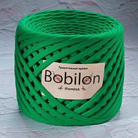Трикотажная пряжа Bobilon Medium (7-9мм). Изумруд