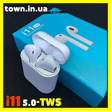 Бездротові сенсорні навушники i11 TWS Bluetooth 5.0