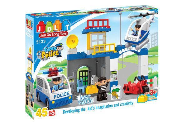 Конструктор JDLT 5133 Полицейский участок 45 деталей