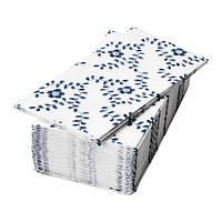 "IKEA ""ALLDAGLIG"" Салфетки, белый/синий, 30 шт."