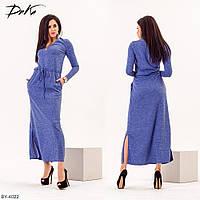 Длинное женское платье из ангоры р-ры 42-48 арт 1333