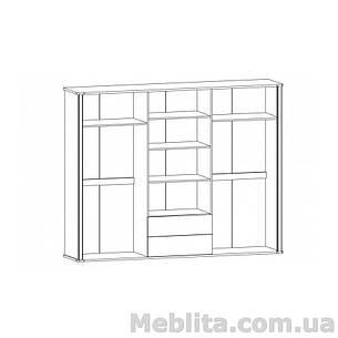 Шкаф 6Д Алабама Мебель-Сервис , фото 2