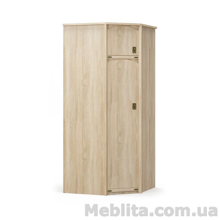 Угловой шкаф Валенсия дуб самоа Мебель-Сервис