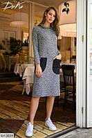 Платье женское удобное платье с капюшоном р-ры 42-48 арт 15220