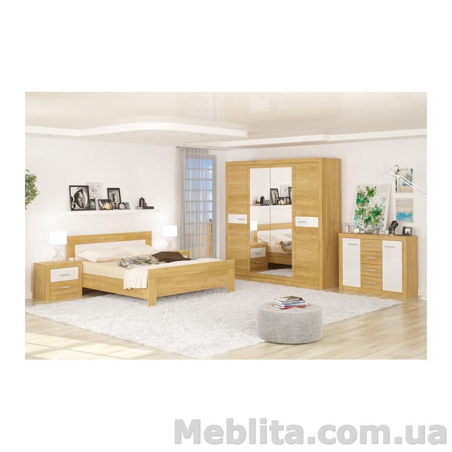 Спальня Квадро рисинг эльм Мебель-Сервис
