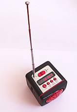 Портативная колонка-радио WS-909RL MP3 SD USB AUX FM LED фонарь, red, фото 3