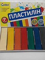 """Мицар Пластилін """"Яскраві плями"""" 7 кольорів, фото 1"""