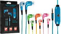 Гарнитура GLOW lighted earphone (зеленый)