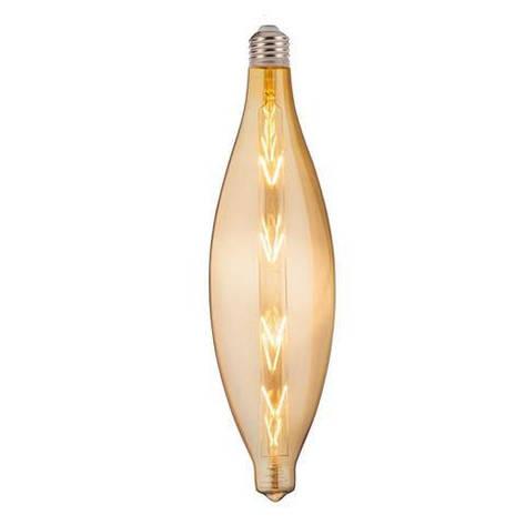 Лампа светодиодная Horoz Electric Filament Elliptic Amber 8Вт Е27 2200К 620Лм (001-054-0008), фото 2