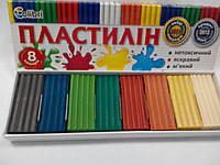 """Мицар Пластилін """"Яскраві плями"""" 8 кольорів"""