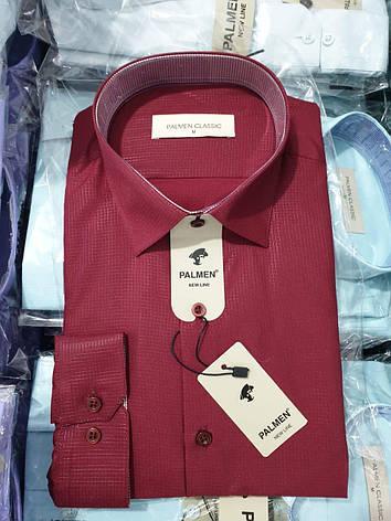 Рубашка однотонная Palmen жжакард, фото 2