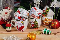 Детская керамическая Новогодняя чашка с Дедом Морозом 210 мл