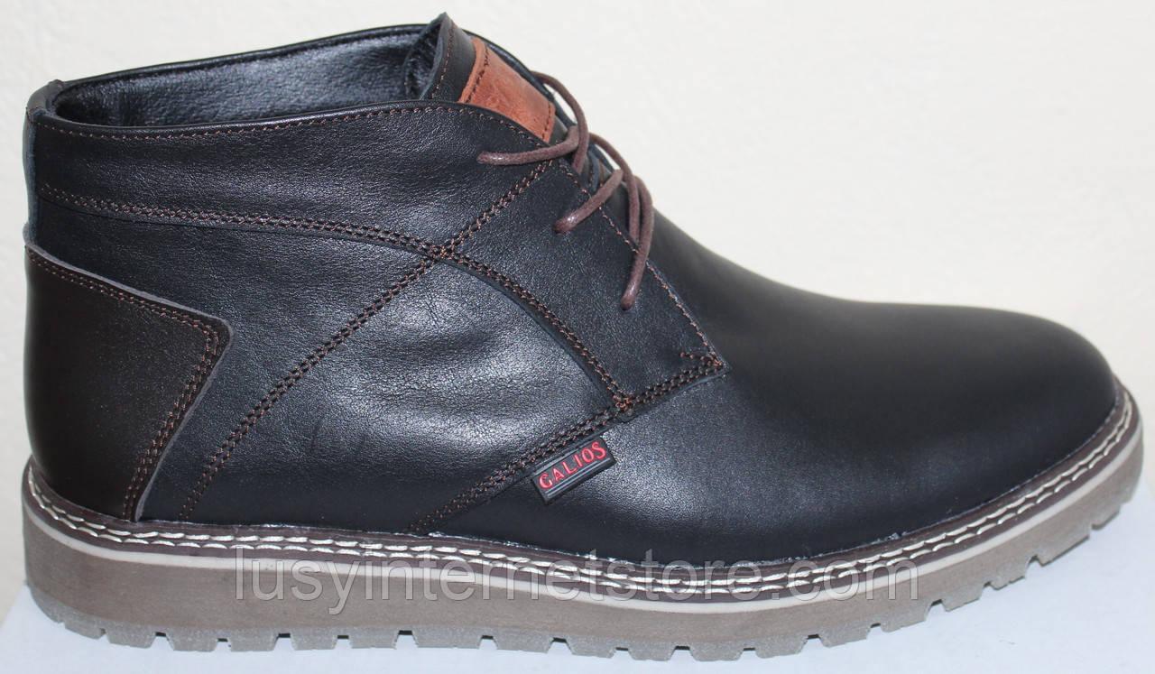 Ботинки на байке мужские кожаные от производителя модель Г2113Д