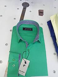 Рубашка мужская  однотонная Palmen жжакард