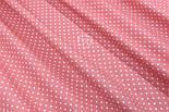 Лоскут ткани с горошком 4 мм на коралловом фоне №1961, размер 37*80 см, фото 3