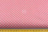 Лоскут ткани с горошком 4 мм на коралловом фоне №1961, размер 37*80 см, фото 5