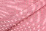 Лоскут ткани с горошком 4 мм на коралловом фоне №1961, размер 37*80 см, фото 6