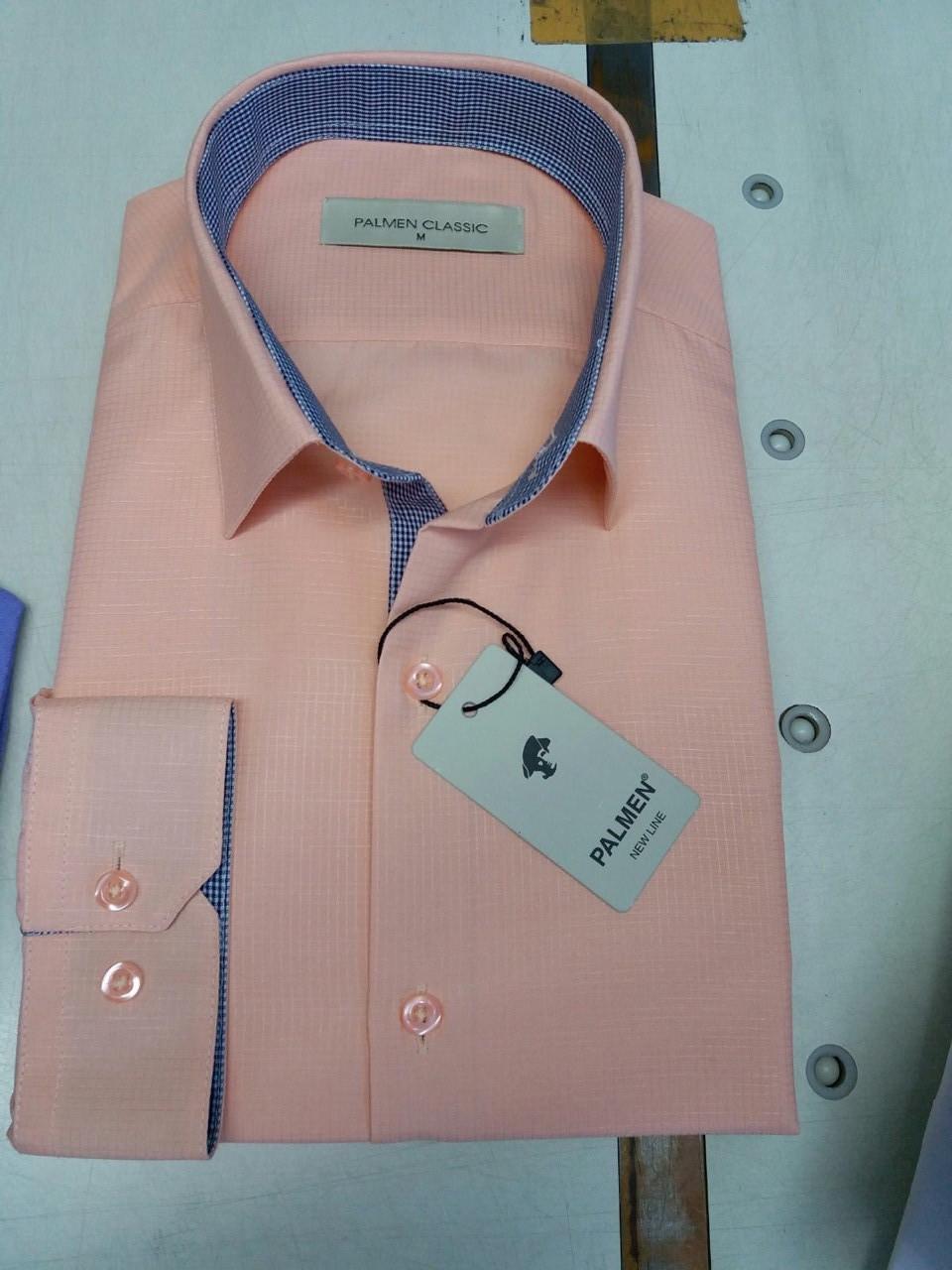 Рубашка однотонная Palmen жжакард