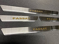 Volkswagen Passat B8 Накладки на пороги Carmos (на пластик)