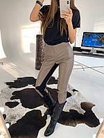 Кожаные женские лосины