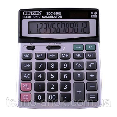 Калькулятор CITIZEN 240, подвійне живлення