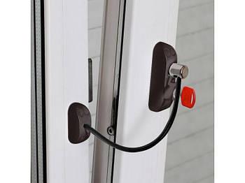 Блокиратор открывания окна от детей BSL Cable Prime Restrictor, цвет коричневый