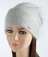 Женская вязаная шапочка Иден светло-серая