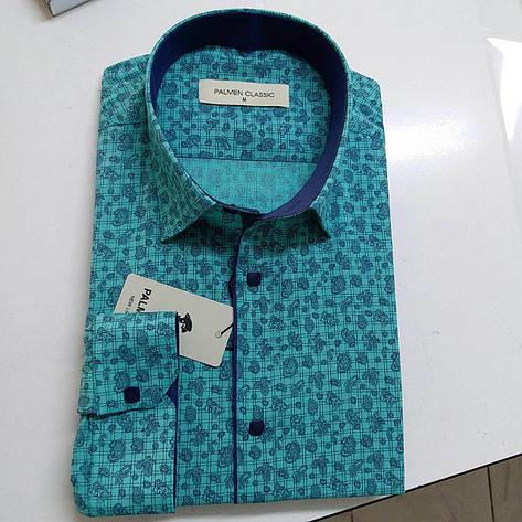 Розпродаж!!! Чоловіча сорочка стрейч-котон Palmen, фото 2