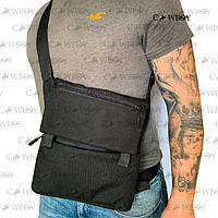 Плечевая сумка с кобурой АР-5, черная синтетическая