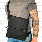 Плечевая сумка с кобурой реплика А39, черная синтетическая