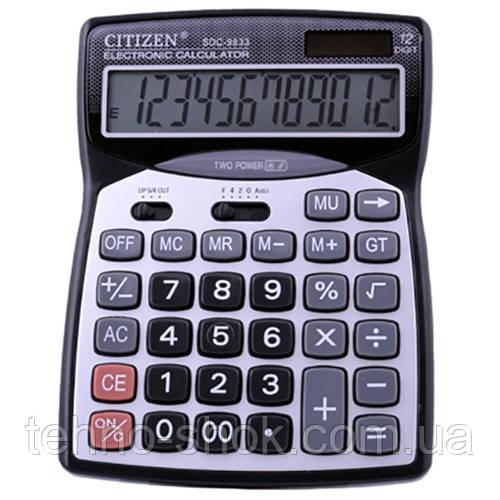 Калькулятор настольный CITIZEN 9833 (двойное питание)