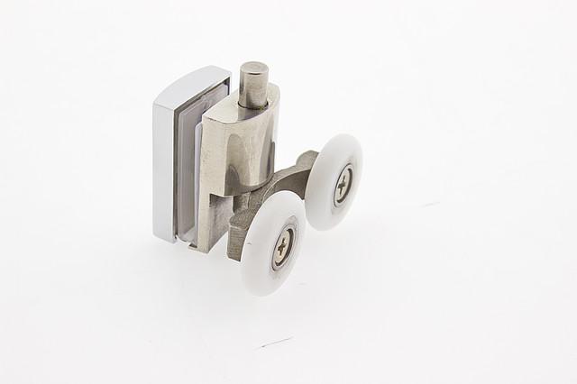 Ролики для душевой кабины металлические двойные