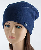 Теплая женская шапочка Иден индиго