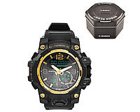 Часы наручные C-SHOCK GG-1000B Black-Gold +Box