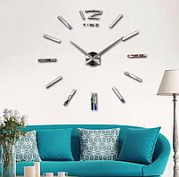 Настенные 3D часы Time Silver