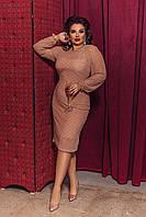 Женское нарядное платье большого размера.Размеры:48-58., фото 1