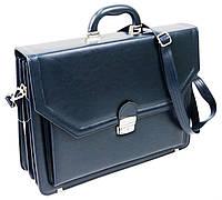 Великий чоловічий портфель з еко шкіри AMO SST01 синій, фото 1
