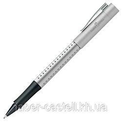 Ручка капиллярная Faber-Castell GRIP 2011 FineWriter, корпус серебристый, стержень синий, 140400