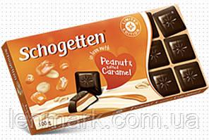 Черный шоколад Schogetten 'in love with' Peanut & salted Caramel ( арахис и соленая карамель) 100г.