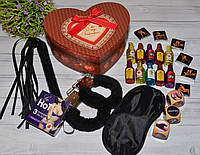Большой подарочный набор с шоколадом и наручниками