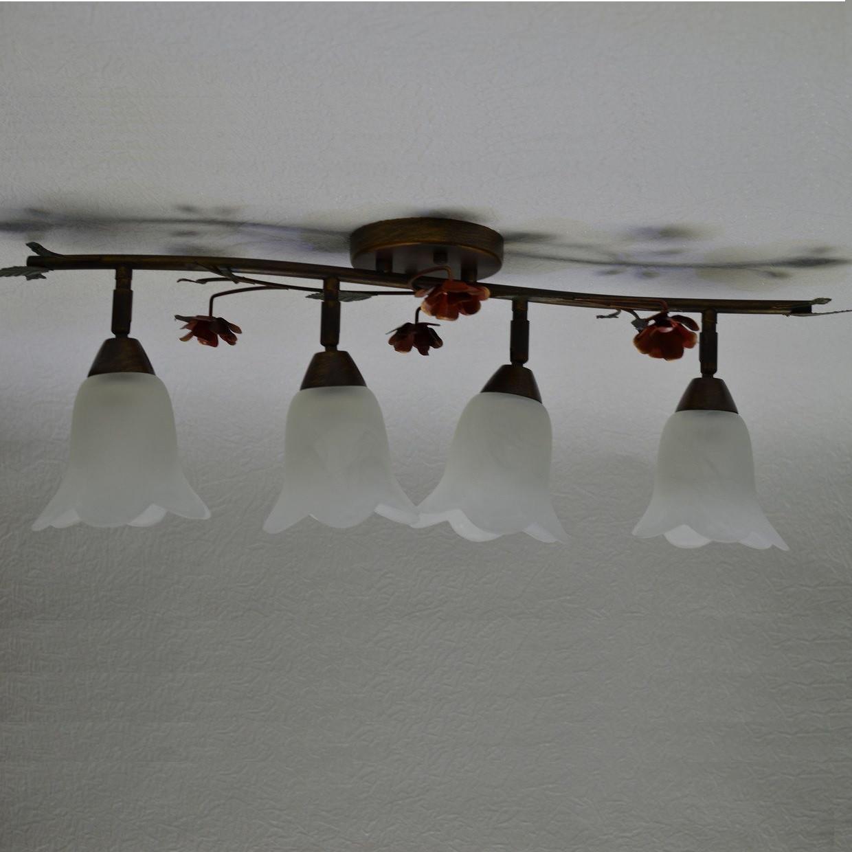 Люстра, 4 лампы,  поворотные плафоны