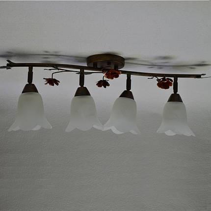 Люстра, 4 лампы,  поворотные плафоны, фото 2